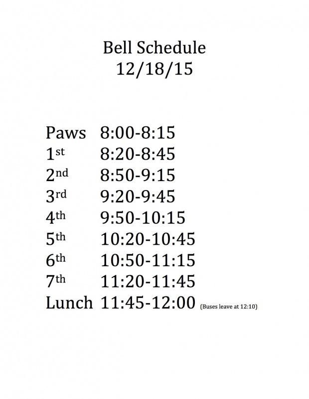 Bell Schedule 12_18_15
